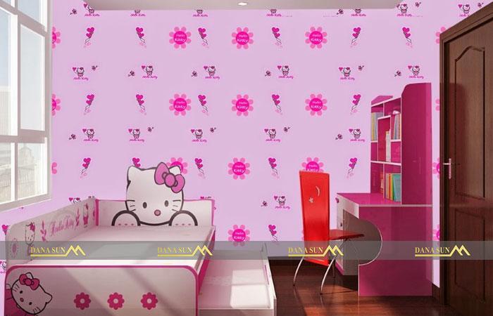 giay-dan-tuong-hello-kitty-cho-be